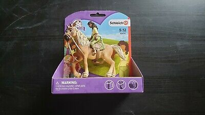 NEW(Slightly Damaged) SCHLEICH Horse Club Sarah and Mystery (42414) - SHIPS FREE