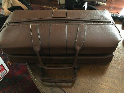 Vintage Physician Doctors Cowhide Leather Bag DOPP Home Visit Great Condition!!!