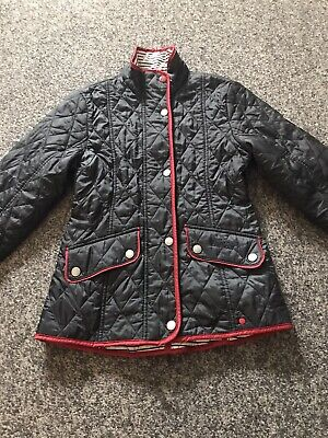 BARBOUR South Shields Blue Quilted Jacket Size Medium Age 6-8