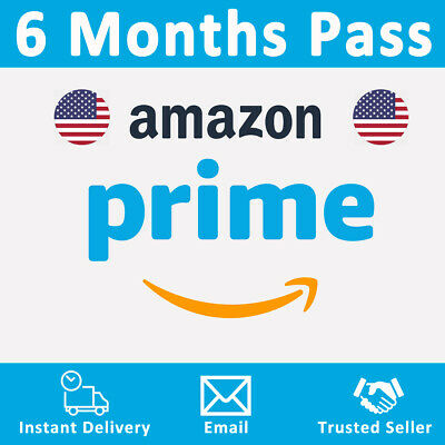 Amazon Prime 6 Months Pass 🔥 Prime Delivery, Video & Music 🔥 USA ONLY