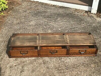 "Rare Globe Wernicke  41"" Oak Stacking file Section"