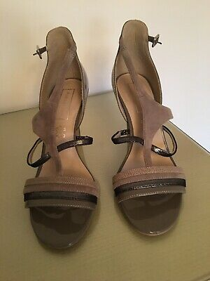 M & S Autograph Strappy Leather/Suede Sandals Uk 6 Worn Once Only