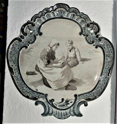 Antique Delft Plaque Porceleyne Fles Holland. Naar Artz.