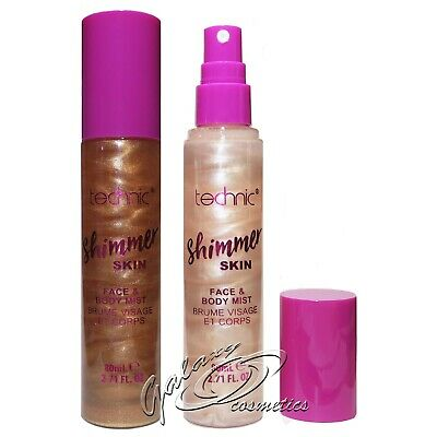 Technic Shimmer Skin Face & Body Mist Hydrating All Over Glow Spray