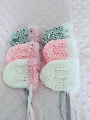 Brand New Hand Knitted  Baby Bonnet