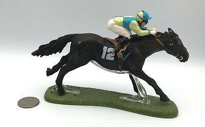 Schleich GALLOPER RIDING HORSE w/JOCKEY Racing Figure 2007 Retired 42027
