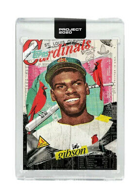 PRESALE Topps Project 2020 Card #70 1959 Bob Gibson by Tyson Beck - Cardinals