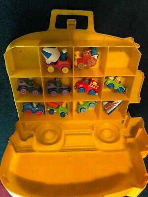 Vintage Playskool Hasbro Die Cast Sesame Street Cars & Case Lot Big Bird Bert