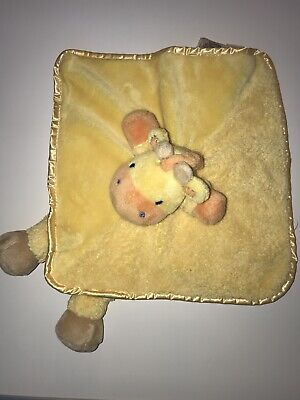 Yellow Giraffe Security Blanket Blankie Rattle Carter's OS Plush Lovey with Legs