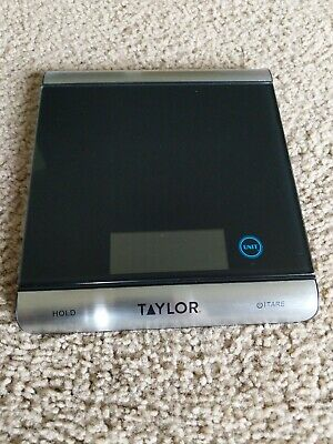 Taylor 3851-9 Digital Kitchen / Postage Shipping Scale - Glass & Stainless