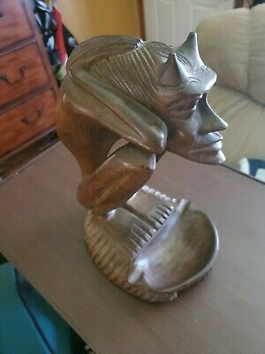 Hand carved Wooden Gargoyle