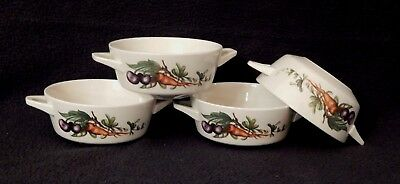 Set 4 Villeroy & Boch SEPTFONTAINES Carrot Plum 2 Handled Soup Bowl Primabella