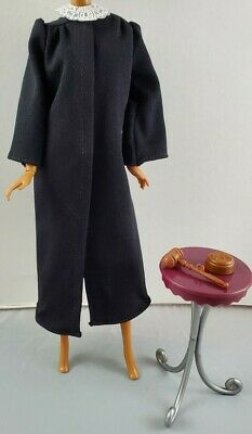 New Mattel Barbie Judge Doll Career of the Year Robe & Gavel Fashion Accessories