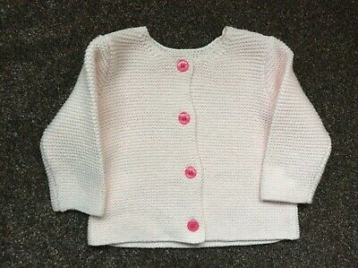 pale pink baby cardigan, knitted, button front, 0-3 months, new