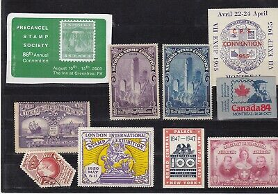 Misc Stamp Exhibit Labels.mixed Condition