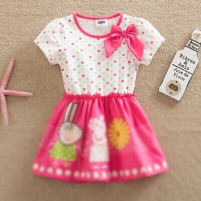 BNWT Top quality Girls Peppa Princess Pig party dress Sizes 1 to 5 years summer