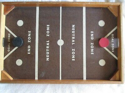 Vintage Wood National Hockey, Table Hockey Game, NOC Hockey 1950's