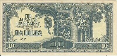 Malaya 10 Dollars 1944, Pick M 7C Japanese Occupation