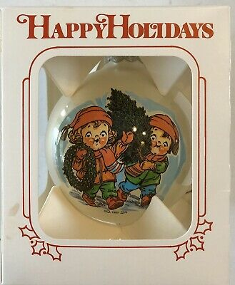 1982 Campbells Soup Collectible Glass Christmas Ornament w/Box Rare!!!