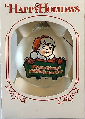 1989 Campbells Soup Collectible Glass Christmas Ornament w/Box Rare!!!