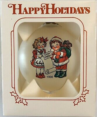 1990 Campbells Soup Collectible Glass Christmas Ornament w/Box Rare!!!