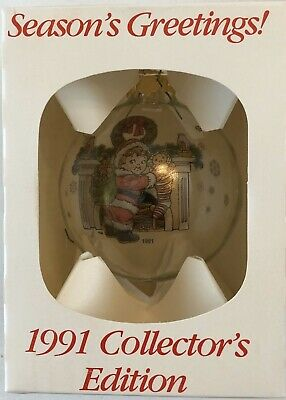 1991 Campbells Soup Collectible Glass Christmas Ornament w/Box Rare!!!