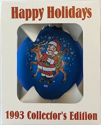 1993 Campbells Soup Collectible Glass Christmas Ornament w/Box Rare!!!