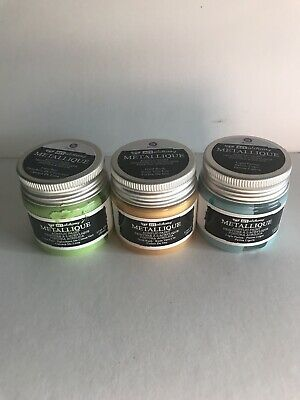 Prima Marketing Finnabair Art Alchemy Metallique Paint Set/3 Lime, Patina,gold