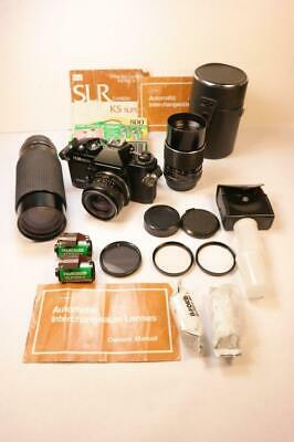 Vintage Sears KS500 Camera 35mm w/Lenses Filters and Accessories Lot No Reserve