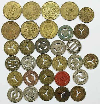 Lot of 31 - NYC Transit Authority Mixed Tokens New York City