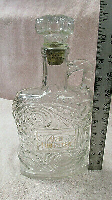 Collectable OLD FORESTER Burbon Whiskey Decanter - Gold Leaf