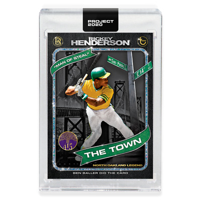 Topps Project 2020 Rickey Henderson by Ben Baller #71 Pre-Sell PR 15741 A's