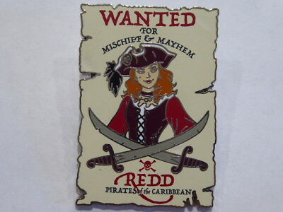 Disney Trading Pin 130189 DLR - Pirates of the Caribbean - Wanted Poster - Redd