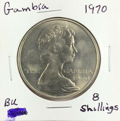 1970 The Gambia 8-Shillings Coin