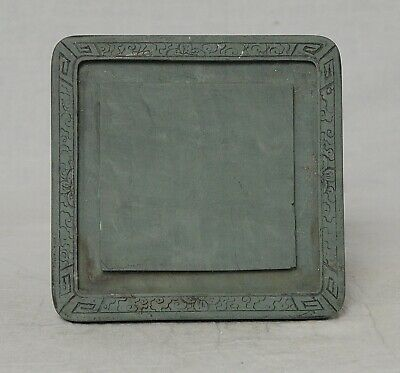 Chine  Carved  Celadon  Ink  Stone    M3637