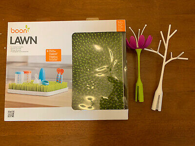 Boon Lawn Countertop Drying Rack - Green With Twig and Flower