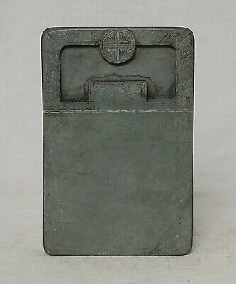 Chine  Carved  Celadon  Ink  Stone    M3644