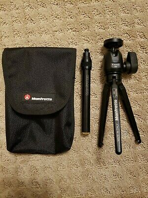 Manfrotto 209 Table Top Tripod Kit w/ Ballhead, Extender, Legs, & Case. Mini
