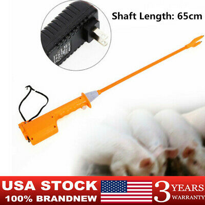 Hot-SALE Livestock Electric Shocker Prod Cattle Pig Wand Rechargeable Animal USA