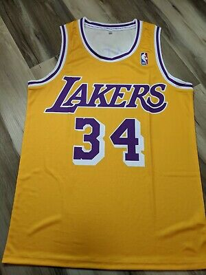 Shaquille O'Neal 1997 Los Angeles Lakers throwback Replica NBA Jersey - medium