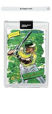 Rickey Henderson Topps Project 2020 #57-1980 Rc Sp. Presale Item