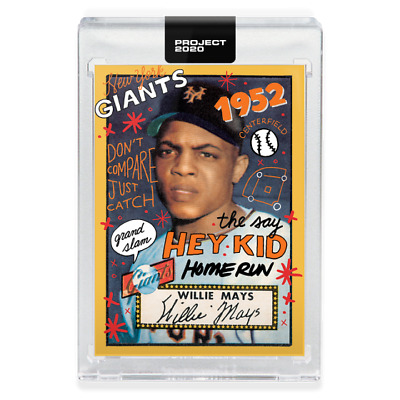 PRESALE Topps PROJECT 2020 #80 1952 WILLIE MAYS RC by SOPHIA CHANG - W/ Box