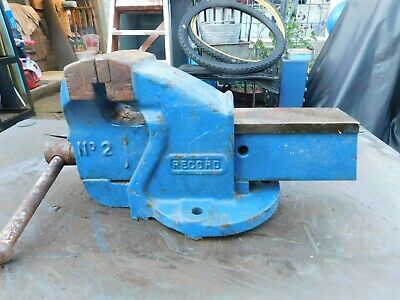 RECORD No 2 ENGINEERS / MECHANICS BENCH VICE. MADE IN ENGLAND