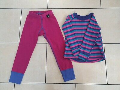 Girls Merino Top And Trousers Age 3/4 - ski, lapland etc