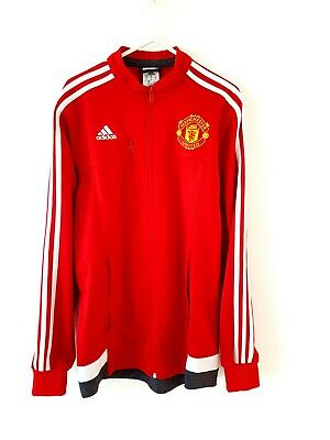 Manchester United Track Top Jacket. Small Adults. Adidas. Red Man Utd Football S