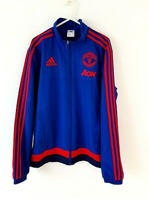 Manchester United Jacket Coat. Small Adults. Adidas. Blue Man Utd Football S.