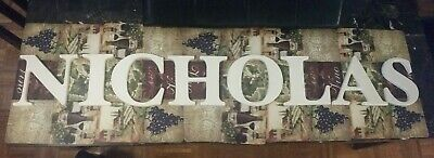 """NICHOLAS  8"""" White Wooden Name Letters"""