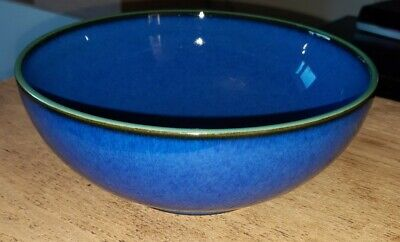 Denby Metz Cereal Bowl Blue With Green Rim
