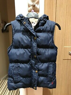 YD Girls Aged 11-12 Hooded Gillet Padded Jacket Bodywarmer