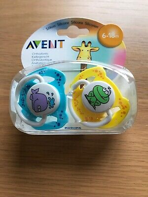 Avent Dummys Twin pack for 6-18 Months